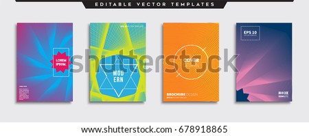 Minimal Vector covers design. Cool halftone gradients. Future Poster template. #678918865