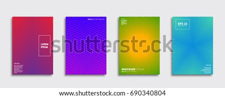 Minimal Vector covers design. Cool halftone gradients. Future Poster template.  #690340804