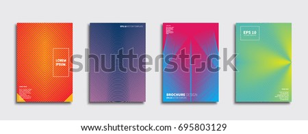 Minimal Vector covers design. Cool halftone gradients. Future Poster template. #695803129