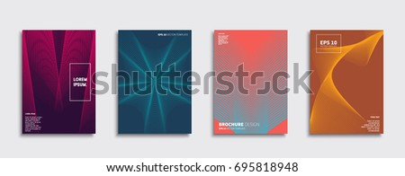 Minimal Vector covers design. Cool halftone gradients. Future Poster template. #695818948