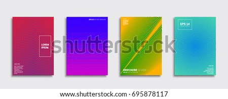 Minimal Vector covers design. Cool halftone gradients. Future Poster template. #695878117
