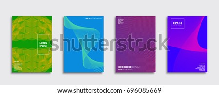 Minimal Vector covers design. Cool halftone gradients. Future Poster template. #696085669