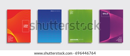 Minimal Vector covers design. Cool halftone gradients. Future Poster template. #696446764