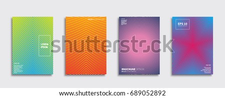 Minimal Vector covers design. Future Poster template. #689052892