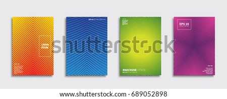 Minimal Vector covers design. Future Poster template. #689052898