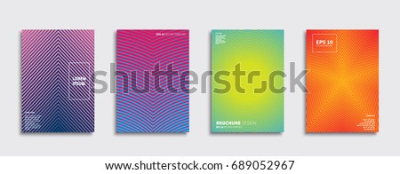 Minimal Vector covers design. Future Poster template. #689052967
