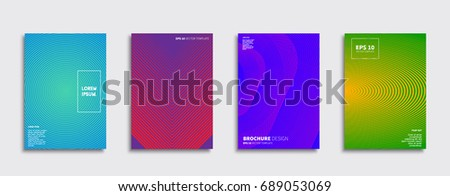Minimal Vector covers design. Future Poster template. #689053069