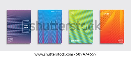 Minimal Vector covers design. Future Poster template. #689474659