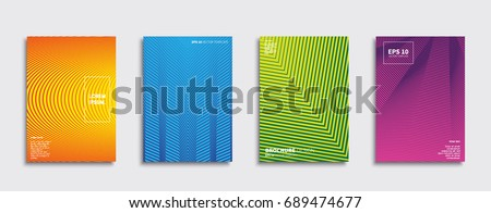 Minimal Vector covers design. Future Poster template. #689474677
