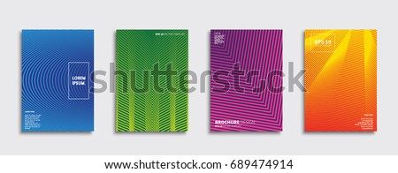 Minimal Vector covers design. Future Poster template. #689474914