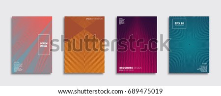Minimal Vector covers design. Future Poster template. #689475019