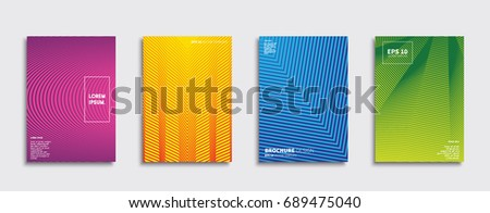 Minimal Vector covers design. Future Poster template. #689475040