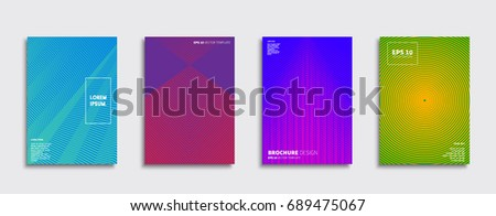 Minimal Vector covers design. Future Poster template. #689475067