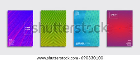 Minimal Vector covers design. Future Poster template. #690330100