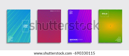 Minimal Vector covers design. Future Poster template. #690330115