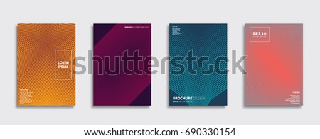 Minimal Vector covers design. Future Poster template. #690330154