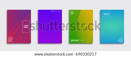 Minimal Vector covers design. Future Poster template. #690330217