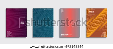 Minimal Vector covers design. Future Poster template. #692148364