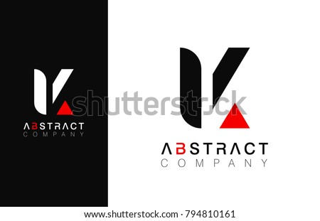 minimal vector graphic alphabet