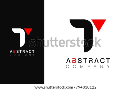 Minimal vector graphic alphabet symbol. Letter T logo.