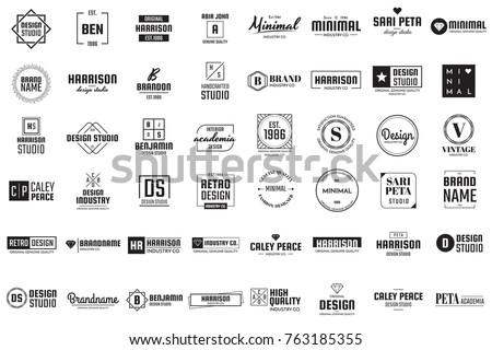 Minimal Vector Logo for banner, poster, flyer