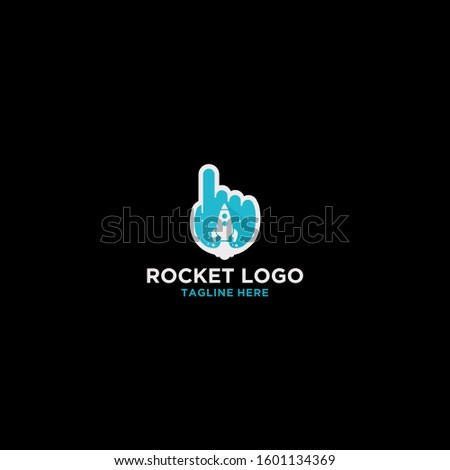 minimalist abstract rocket logo