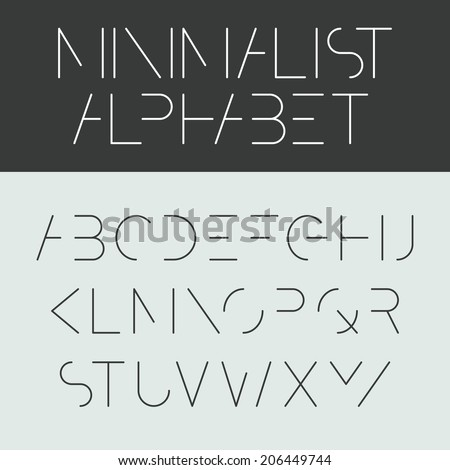minimalist alphabet font