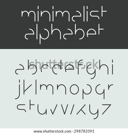 minimalist alphabet lower case