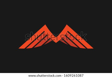 Minimalist and unique M Letter Wings Logo, that fits to any company