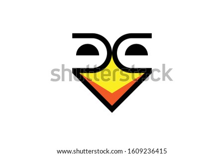 Minimalist and unique 2 R Letter Bird Logo, that fits to any company