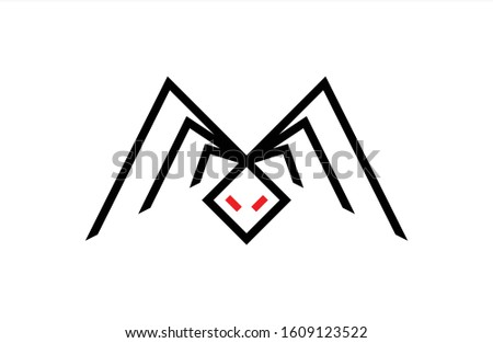 Minimalist and unique Spider M Letter Logo, that fits to any company Stock fotó ©