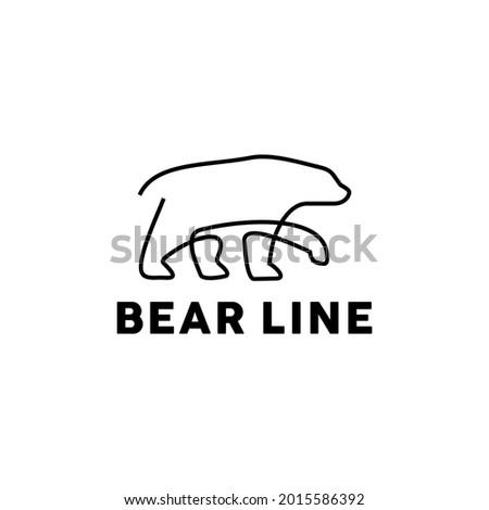 minimalist bear logo design