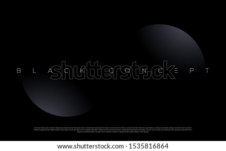Minimalist black premium abstract background with luxury dark geometric elements. Exclusive wallpaper design for poster, brochure, presentation, website etc. - Vector EPS