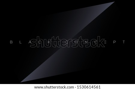 Minimalist black premium abstract background with luxury dark gradient geometric elements. Rich background for exclusive design. - Vector