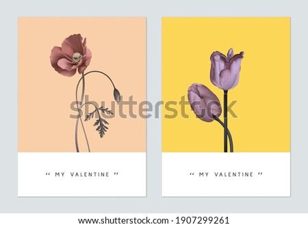 minimalist botanical valentine