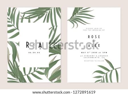 minimalist botanical wedding