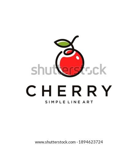 minimalist cherry logo design