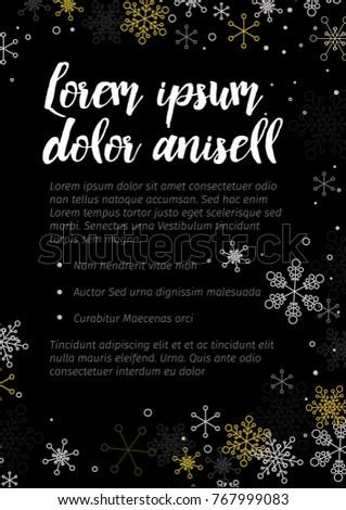 minimalist christmas flyer