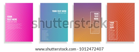 minimalist cover design with dynamic colorful halftone gradient. vector template for presentation, leaflet, magazine, poster in a4 size #1012472407