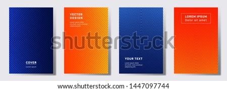 Minimalist cover templates set. Geometric lines patterns with edges, angles. Abstract backgrounds for cataloges, corporate brochures. Line shapes patterns, header elements. Annual report covers.