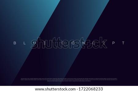 minimalist deep blue premium