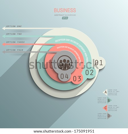 minimalist design infographic on paper style design element for business presentation