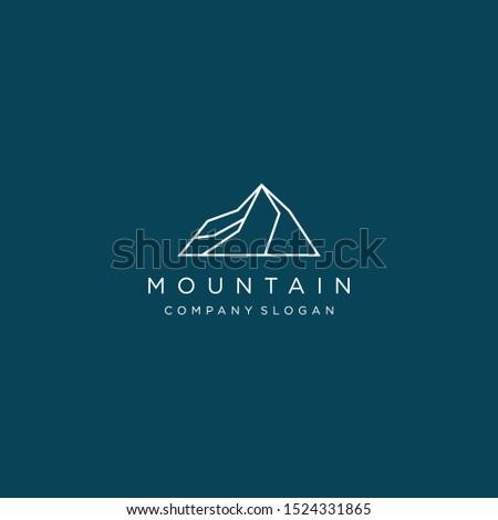 minimalist elegant mountain