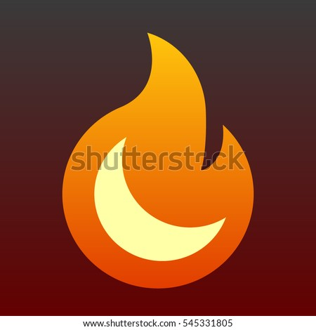 minimalist flame icon