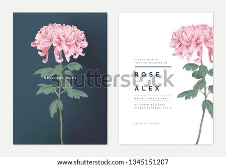 minimalist floral wedding