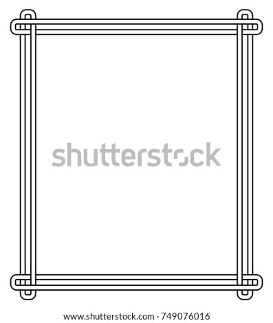 minimalist geometric frame made