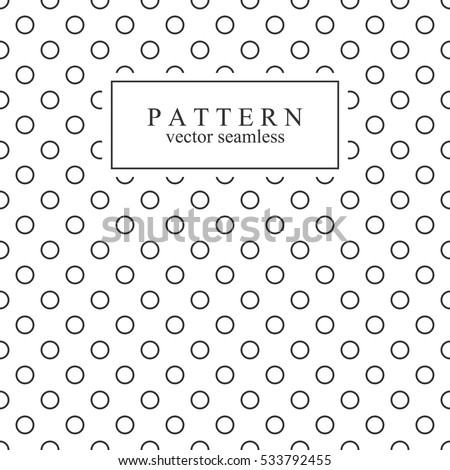 Minimalist geometric seamless pattern with circles.