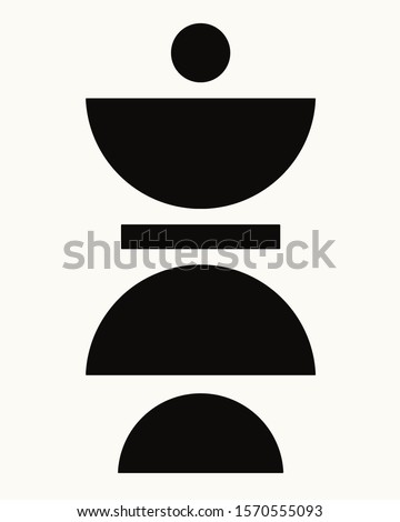 minimalist geometrical abstract