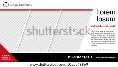 Minimalist graphic design layout template for advertising, creative & business concept, modern diagonal abstract background Geometric element. Red & Black with transparent theme, Vector illustration.