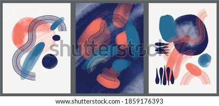 minimalist hand paint abstract